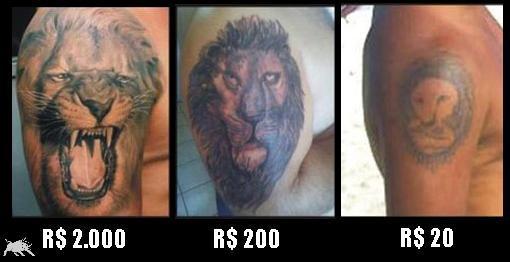 Tatue um leão pelo preço que quiser