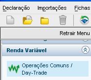IRPF 2012 - Renda Variável - Operações Comuns / Day-Trade